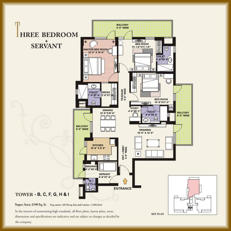 Gpl eden heights gurgaon Servant quarters floor plans
